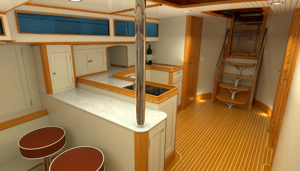 62' Sailboat DAF Renderings