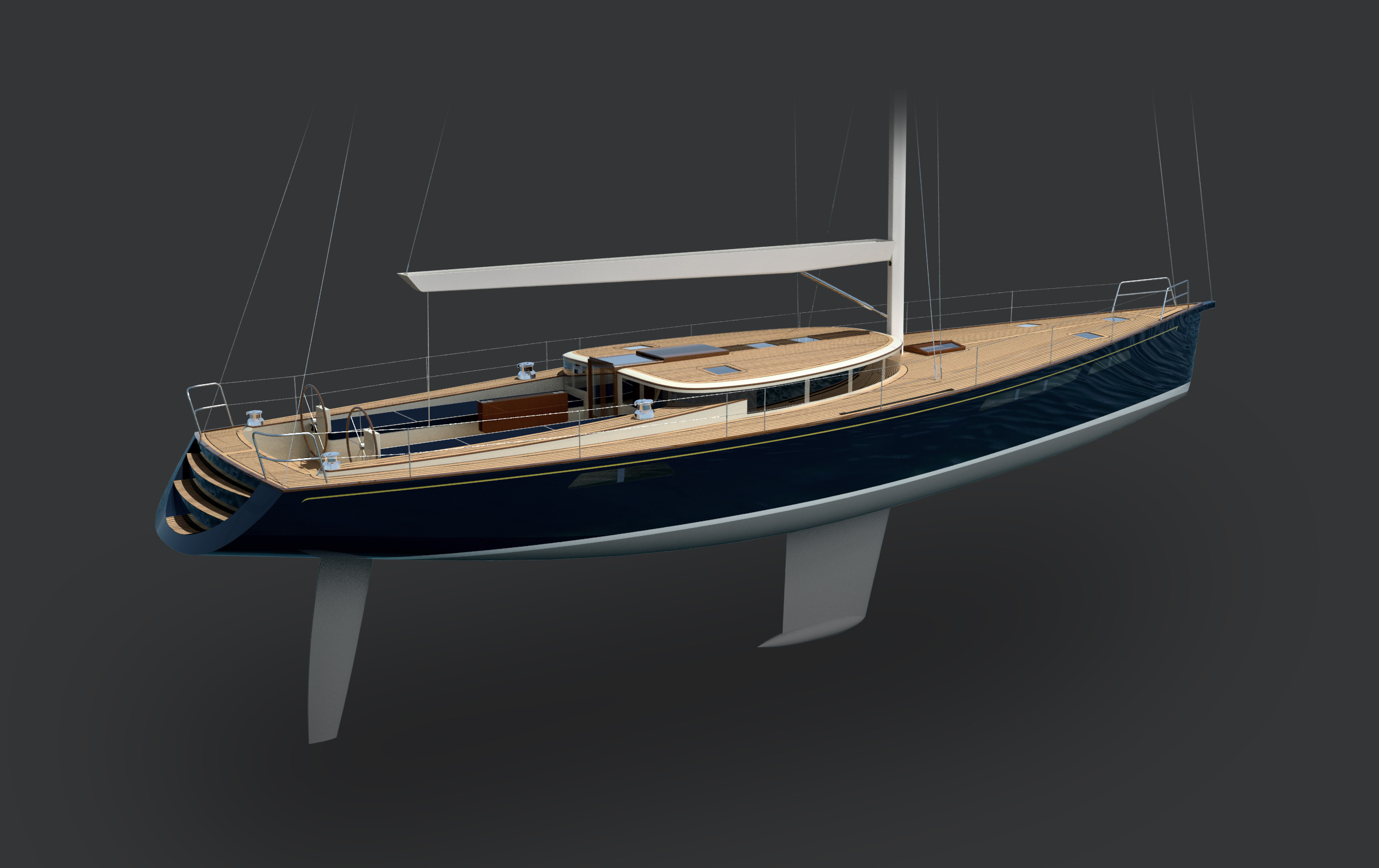 DAF Renderings - 70' Sailboat