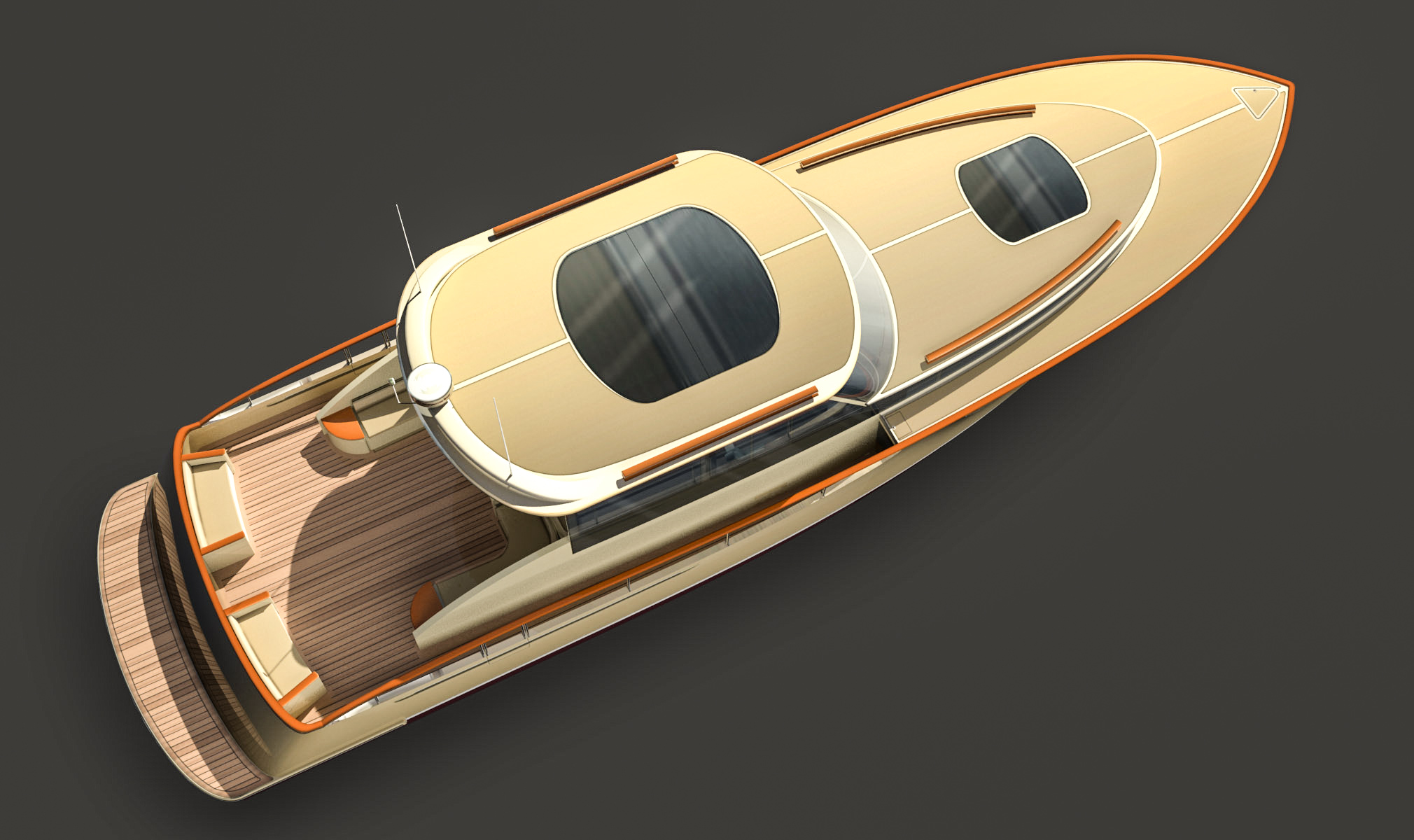 DAF Renderings 60ft Motor Yacht